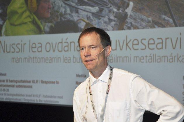 SVARER: Adm.dir. Øystein Rushfeldt i Nussir ASA svarer på kritikk fra MDG.