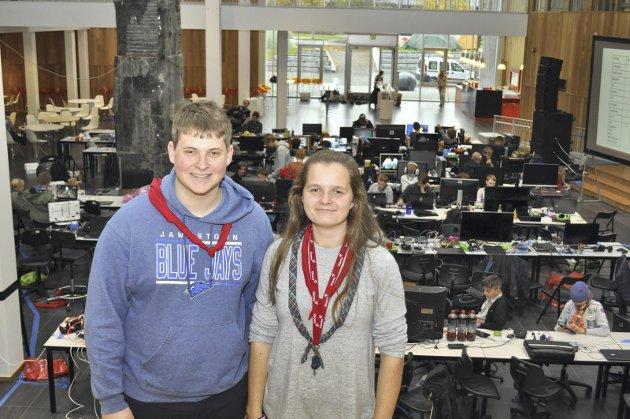 Fornøyd: Jonas Myhren og Anne Eline Nærstad er godt fornøyd med hvordan arrangementet Jota Joti har vokst de siste årene.