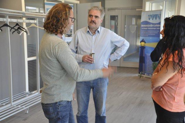 Barnehagesaken i Moskenes har ført til mye debatt i kommunen. Her Bjørn Jensen (SV) og rådmann Per Sperstad
