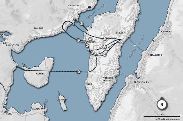 Håkøytunnel bringer hele Sør-Kvaløya og Håkøya pluss Ryatunnelen mye nærmere bysentrum. Den blir en radikal forbedring av transport og avstander i Tromsø - pluss forbedring av ytre riksvei for hele fylket, skriver Terje Walnum.