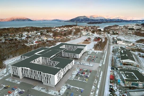 Alstadhaug kommunes foretrukne alternativ til nytt sykheus lokalisert på Rishatten.