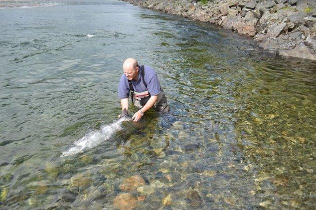 17 kilo blank sølvtorpedo settes ut i Reisa av Jamie McCaig