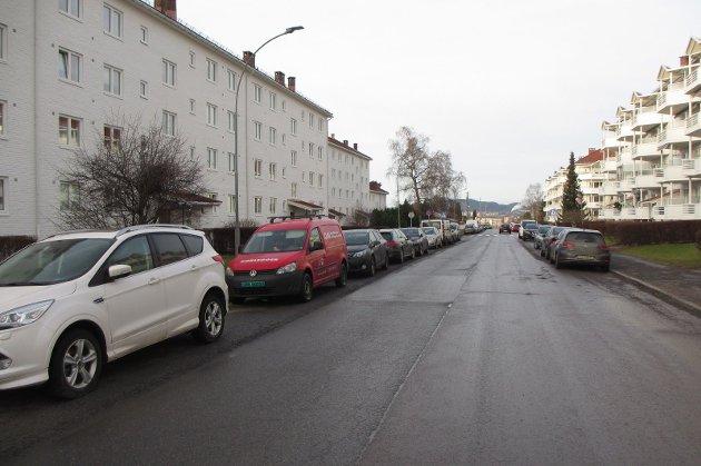 Haakon Tveters vei mellom Skøyenåsveien og Skøyenkroken