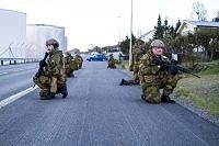 Innsatsstyrke Claymore (HV-16) overtok objektet Troms Kraft fra Politiet under øvelse Nivlheim