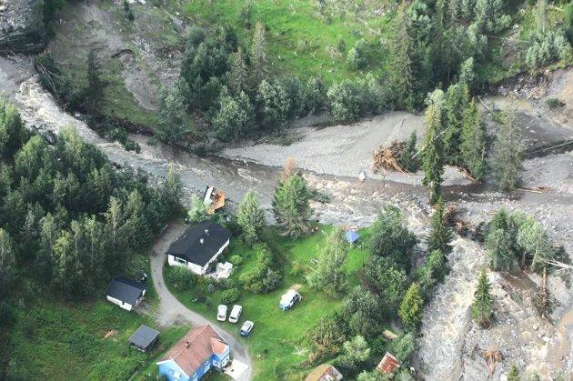 Nordre og Søndre Land ble hardt rammet av regnværsflom i august 2007.