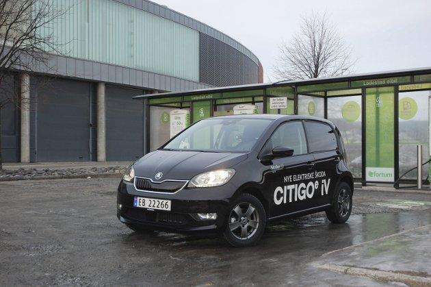 VELKJENT FORM: Det er ikke gjort noen vesentlige utvendige forandringer på Skoda Citigo når den nå kommer også som elbil.FOTO: ØYVIN SØRAA