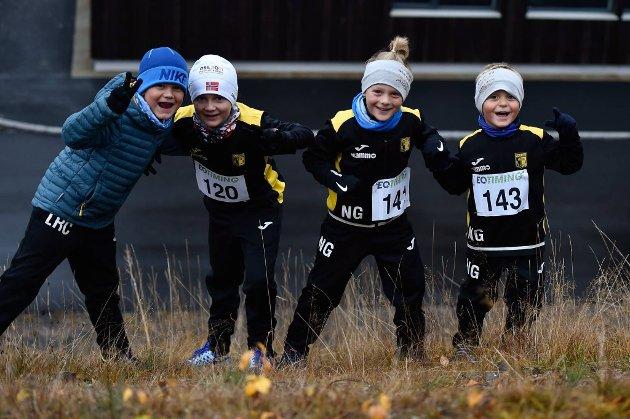 AKTIVITET: En glad gjeng på «Alle med-løp» i Vestre Toten.