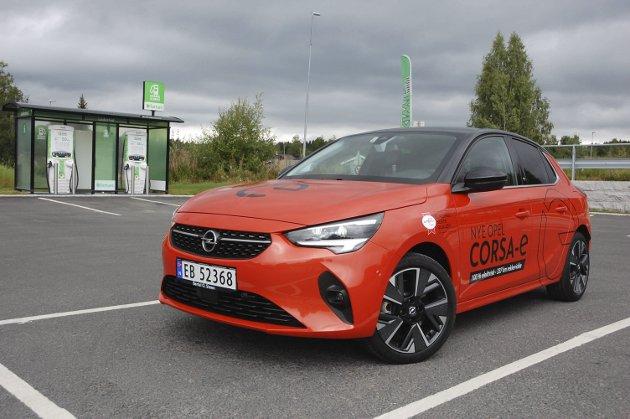 FOR FØRSTE GANG SOM ELBIL: En helt ny generasjon Opel Corsa.FOTO: ØYVIN SØRAA