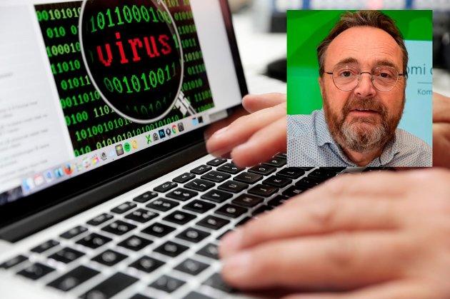RAMMET AV PYSA: Politiet har opplyst kommunedirektør Ole Magnus Stensrud om at den avanserte IT-banden opererte fra servere i Nederland og Tyskland da den angrep Østre Toten kommune 9. januar i år.