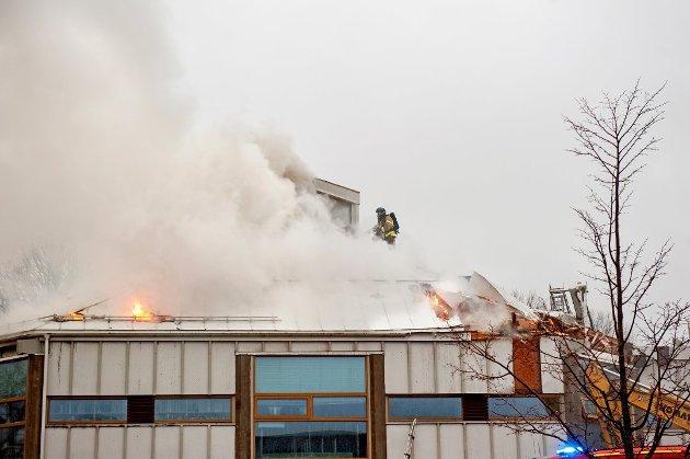 BRANN: Det er ett år siden brannen i Larvik bibliotek