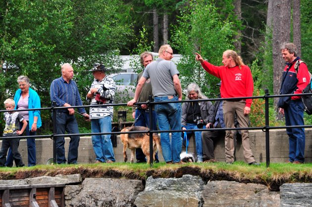 På damanlegget: Godt oppmøte på Sandbekk Mølle i 2010.