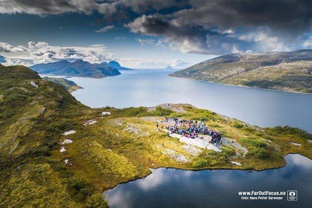 Utsikt fra Sjonfjellet over Nordlandsverran.