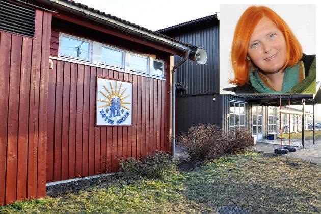 Eva Bekkelund-Eriksen mener planene om å legge ned Røyse skole tærer på tilliten til den kommunale ledelsen.