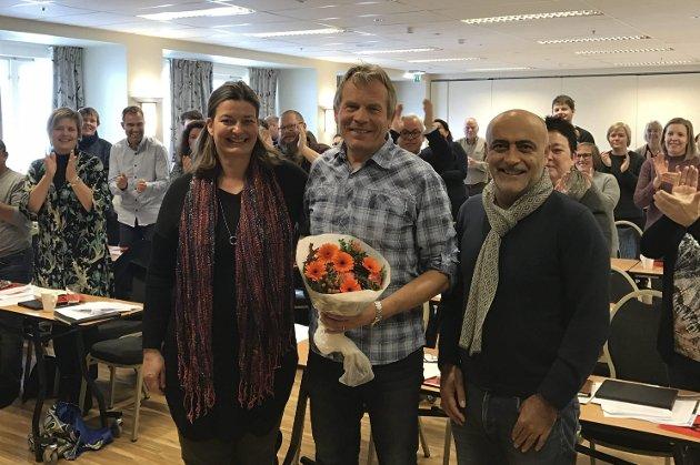 Toppkandidater i Buskerud SV: Tonje Benedikte Kopstad, Arne Nævra og Sadi Emeci.