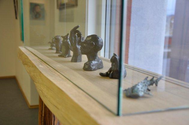 Bronseskulpturer skapt av Visual Arts-elever Ringerike Folkehøgskole