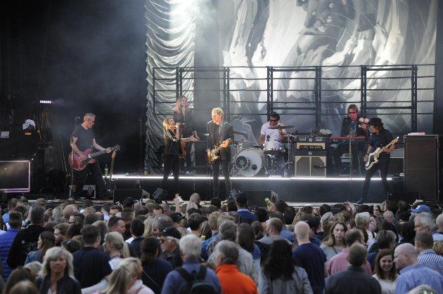 Publikum storkoste seg under konserten med CC Cowboys fredag kveld.