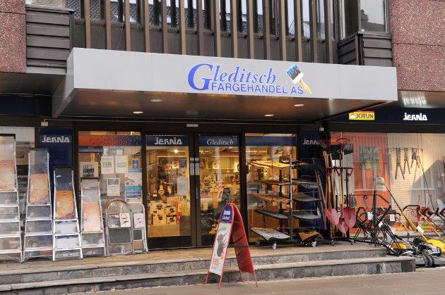 Konkurranse: Gleditsch Fargehandel og Jernia i sentrum.