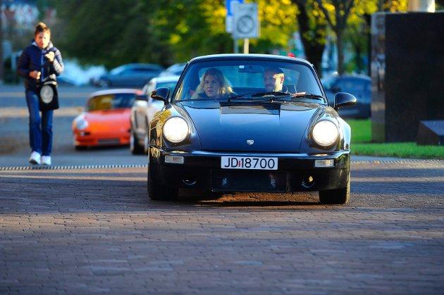 Den ene flotte bilen etter den andre rullet inn foran Hjertnes i forbindelse med premieren på bilfilmen Børning 3.