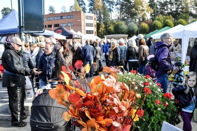 Høstmarked på Torget i Notodden.