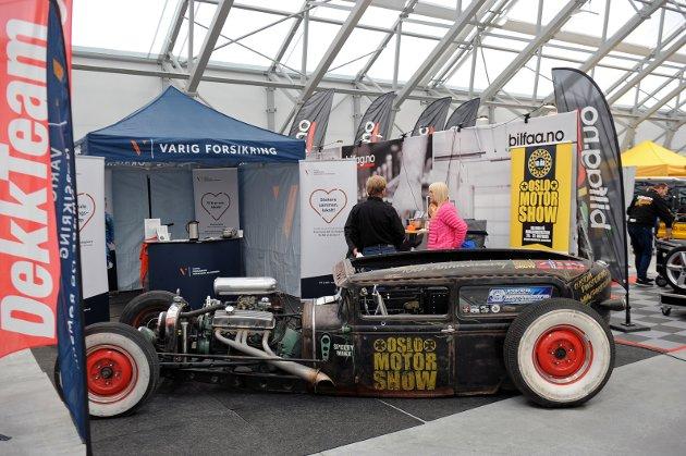 """Denne """"rat rod""""-bilen vekker oppsikt. En rustelskende rebell fra Horten har tatt utgangspunkt i en A-Ford fra 1931."""