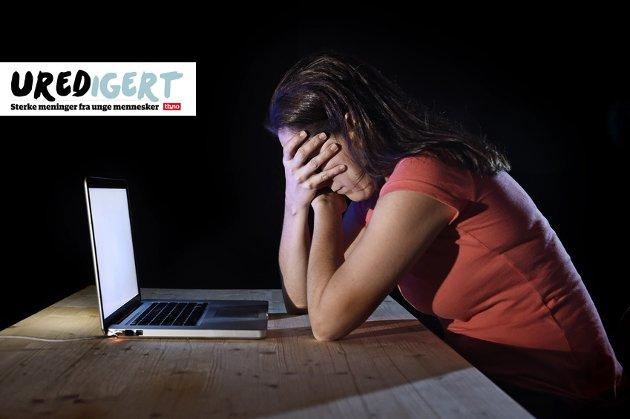 NETTMOBBING: Jente (15) skriver om hvordan hun opplevde å bli mobbet på nett. Illustrasjonsfoto: Focus Pocus LTD - Fotolia