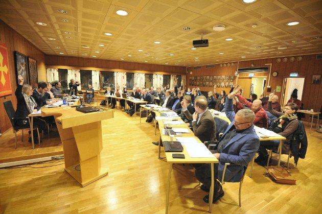 Verdal kommunestyre stemte ikke for forslag om ungdomssatsing, skriver Arbeiderpartiet. Bildet er tatt tidligere i kommunestyreperioden.