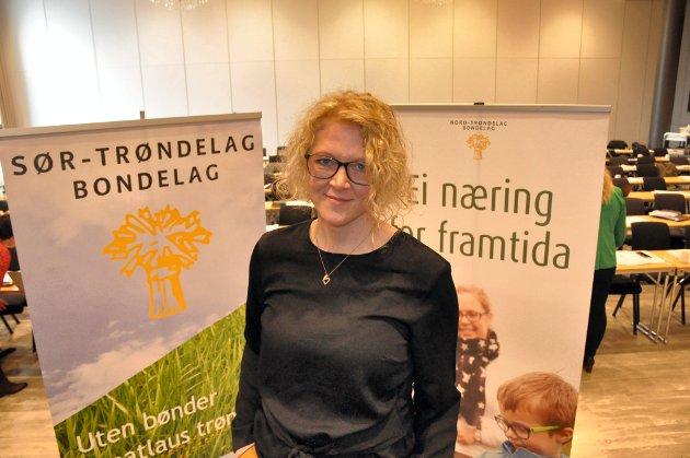 Audhild Slapgård fra Vuku tar steget opp til ledervervet i nye Trøndelag Bondelag. *** Local Caption ***