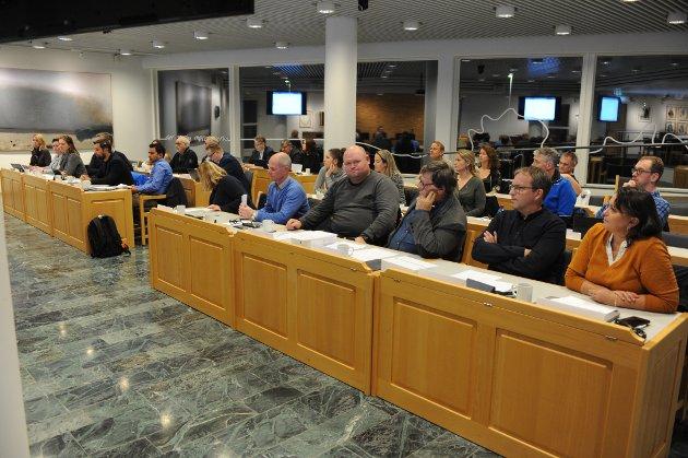 OPPOSISJONEN: Høyres kommunestyregruppe (fremst i bildet) mener flertallspartiene har snakket mye, men gjort lite for å bedre situasjonen innen eldreomsorgen i Nittedal.