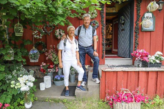 BEGEISTRET: - Dette må oppleves, det er en fantastisk attraksjon, sier Bente og Geir Jacobsen som er fra Nøtterøy.