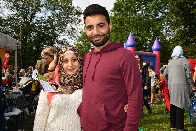 Ahmad Zaineddin og kona Heba.