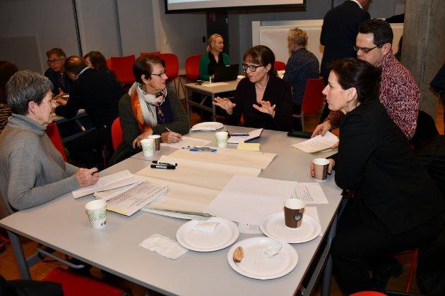 Anne Stine Sæther legger fram sine ideer for gruppen.