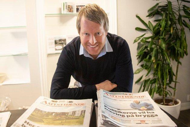 MÅ FORTELLE SANNHETEN: En avis skal ikke pynte på virkeligheten bare fordi en senterleder vil ha positive nyheter. Det sier ansvarlig redaktør og daglig leder i Amta, Mattias Mellquist.