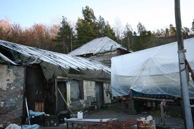 Slik så det ut i søndre pukkverksbrudd på Spro i 2008.