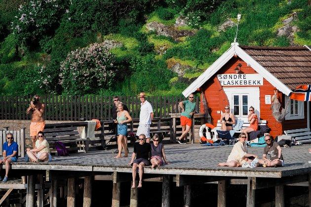 Christiania Mannskor besøkte Søndre Flaskebekk brygge.