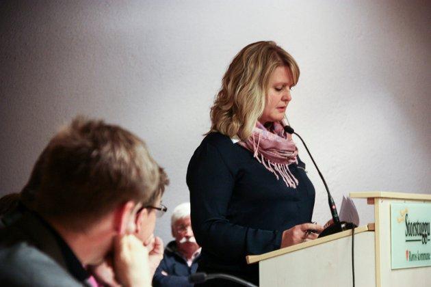 Mona W. Slettum (H) - gruppeleder for opposisjonen i kommunestyret  Foto: Tor Enget