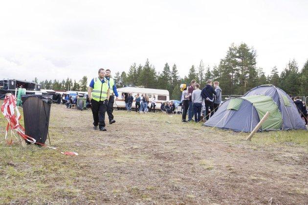 Bra campstemning: Godt humør preget campen under festivalen. Festivalen solgte over 1 000 camp-biletter.