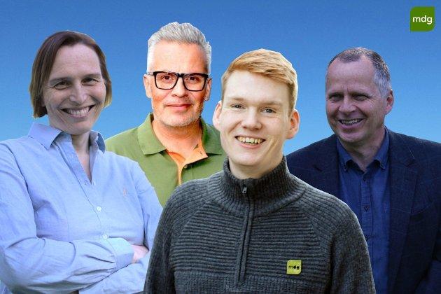 Jon Lurås Stortingskandidat MDG Hedmark. Ask Lindal Stortingskandidat MDG Sør Trøndelag. Tommy Reinås Stortingskandidat MDG Nord Trøndelag. Karina Ødegård Stortingskandidat MDG Oppland