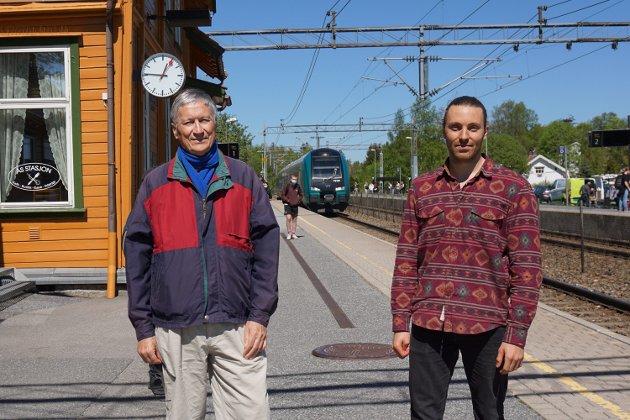 Gunnar Bengtsson (tv) og Martin Løken, Ås MDG