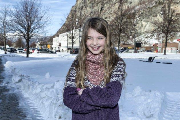 Modig og klimaengasjert: Fredag er Sunniva Jacobs Steinberg (8) på plass i Oslo..