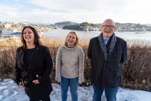 Fra venstre i bildet: Berit Tønnesen, Åse Kristin Ask Bakke og Per Vidar Kjølmoen.