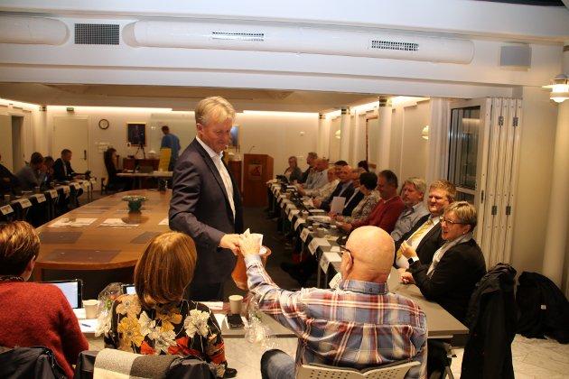 VALGET: Her er det skriftlig valg i bystyret i Flekkefjord.