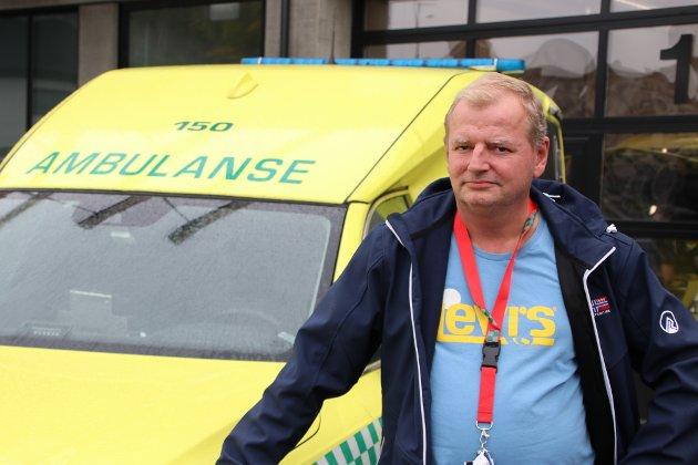 Thorsten Janvin er tillitsvalgt for ambulansearbeiderne i Flekkefjord