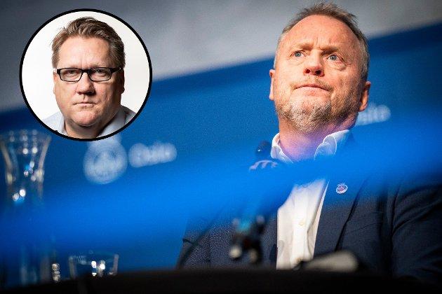 Politisk redaktør i Avisa Oslo, Eirik Mosveen (innfelt) tror byrådsleder Raymond Johansen (Ap) snart må innføre strengere tiltak.