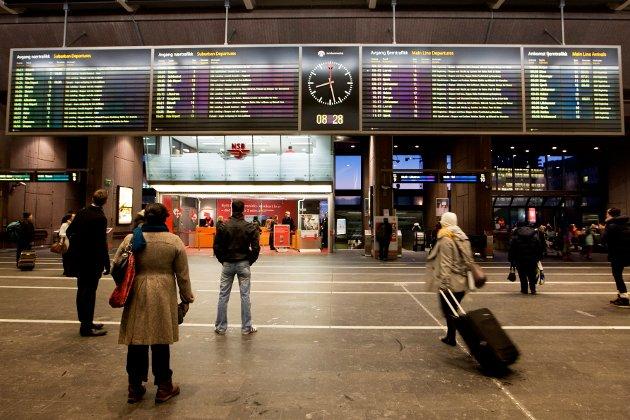 FORSINKET: Arbeidet en ny togtunnel under Oslo blir etter alt å dømme forsinket.