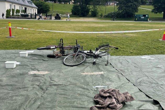 Sykler og tekstiler var allerede hentet opp bare kort tid etter ryddeaksjonen var i gang.