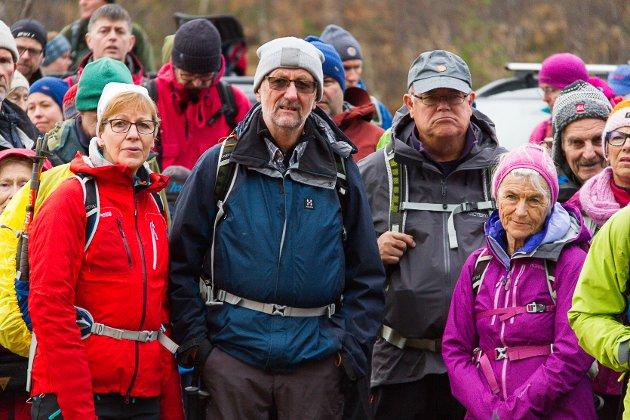 550 menneske møtte opp då Bergen og Hordaland Turlag arrangerte støttemarsj for Stølsheimen søndag
