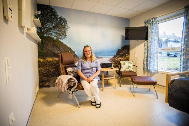 Hjelpepleiar Elin Vågenes har mellom anna har hatt rolla som interiørkonsulent i prosjektet. På ein heil vegg på kvart rom finn ein ulike heildekkande lokale fotomotiv, tatt av den lokale fotografen Sondre Villanger Håland.