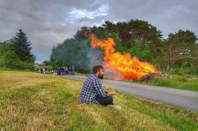 Feiring på Sande på Sandøyna.