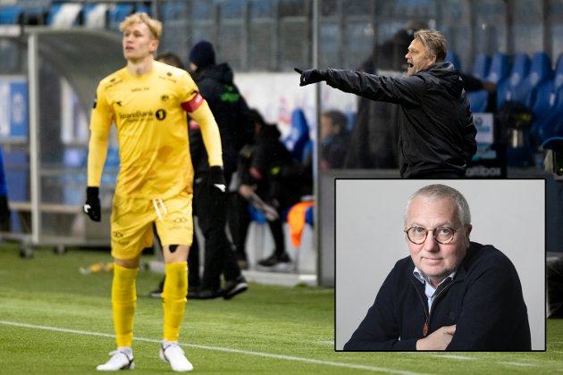 Kommentatoren er ikke imponert over Moldetrenerens kommentarer i intervjusonen etter kampen mot Glimt lørdag kveld.