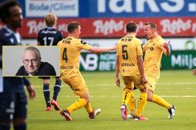 Dette øyeblikket glemmes ikke! Marius Lodes fantastiske scoring som ga Glimt 2-1-seier over Kristiansund. Sånn ser en serievinner ut.